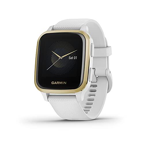 Garmin Venu Sq, Reloj Inteligente con GPS, Blanco...