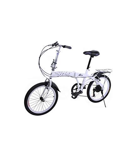 Riscko Bicicleta Plegable Metric Blanca con 7...