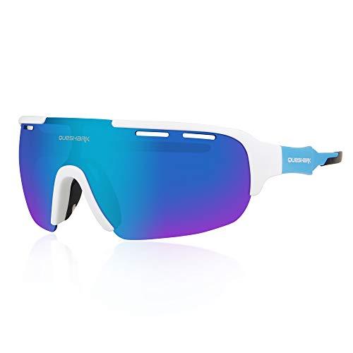 Queshark Gafas de Ciclismo para Hombre Mujer...