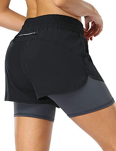 MOVE BEYOND Pantalón Corto de Running 2 en 1 para...