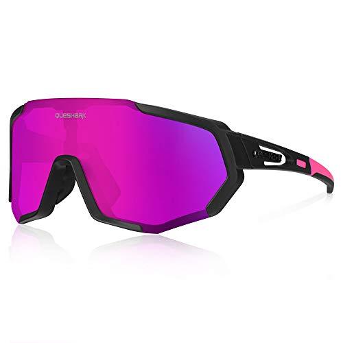Queshark Gafas de Ciclismo Polarizadas Gafas de...