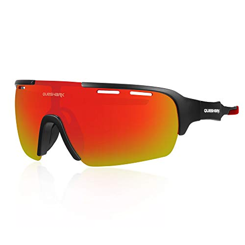 Queshark Gafas de Ciclismo para Hombre Mujer...*