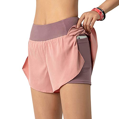 Lixada Mujeres Pantalones Cortos para Correr 2 en...