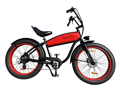 GermanXia Black Sinner 26 Chopper, color rojo y...