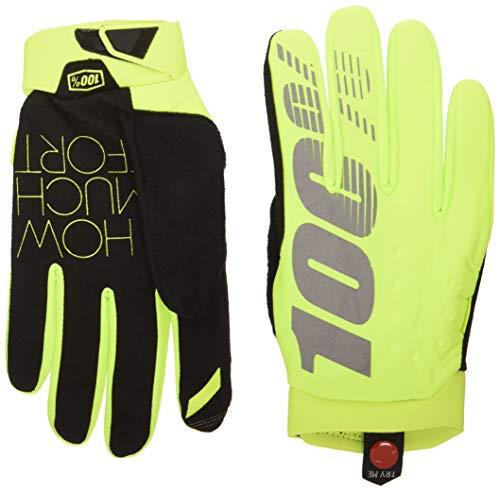 Brisker 100% Glove Fluo Yellow LG