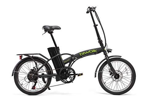 BIWBIK Bicicleta ELECTRICA Plegable Book (Negro)*