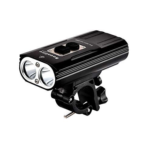 soonfire FD38S - Faro de bicicleta recargable USB,...