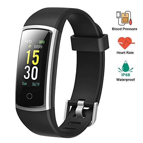 Lintelek Pulsera Actividad Impermeable Smartband con Pulsómetro y Tensiómetro, Reloj Medidor Tensión Arterial, Pulsera Deportiva con GPS, Pulsera Inteligente Compatible a Android y iPhone