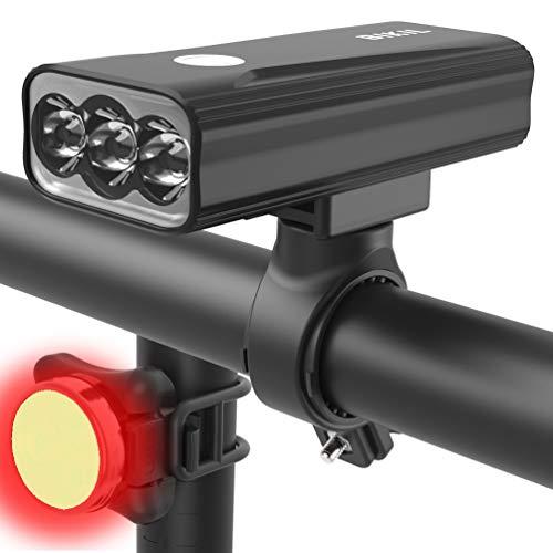 BIKIL luz bicicleta 6400mAh,luz delantera...
