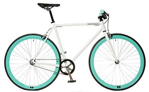 FK Cycling Bici Fixie Kamikaze SS Blanca/Celeste...