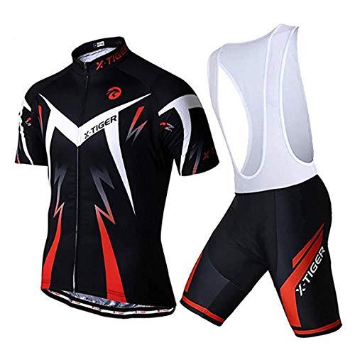 X-TIGER Ciclismo Maillots para Hombres con...