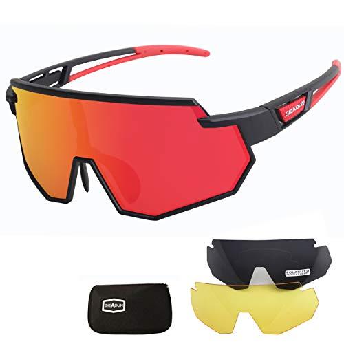 JEPOZRA Gafas de Ciclismo Polarizadas Gafas de Sol...