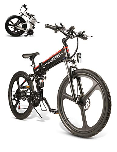 SAMEBIKE Bicicleta de montaña eléctrica 26...
