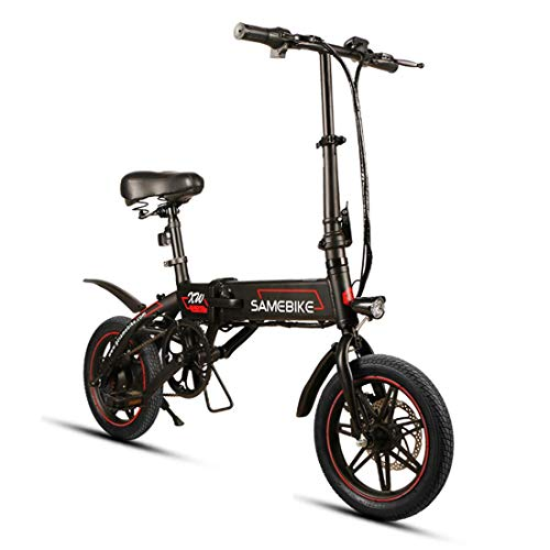 SAMEBIKE Bicicleta Eléctrica Plegable de 14...