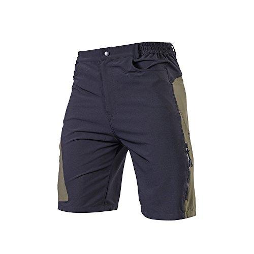 TOMSHOO Pantalones Cortos de MTB para Hombres,...