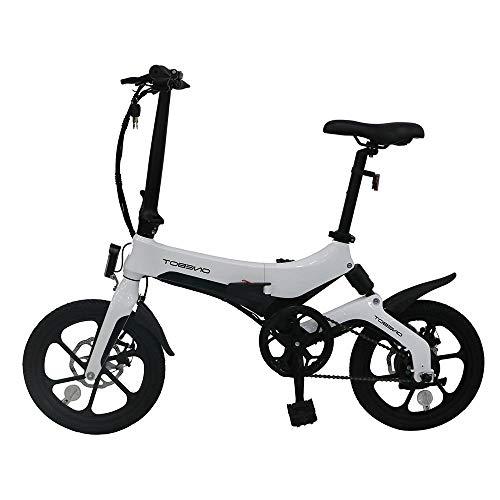 Bicicleta Eléctrica Plegable 250W 16 Pulgadas...