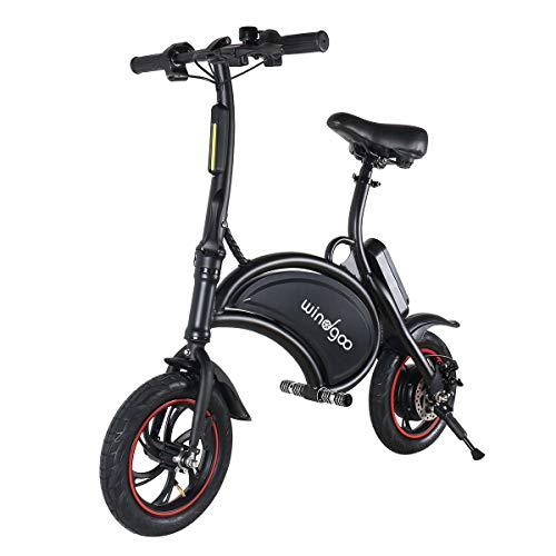 TOEU Ebike 36V Bicicleta Electrica Plegable 12', Black Matte, Bici Electrica Urbana Ligera para Adulto