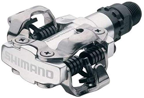 Pedales de MTB, Shimano M520, SPD, plata