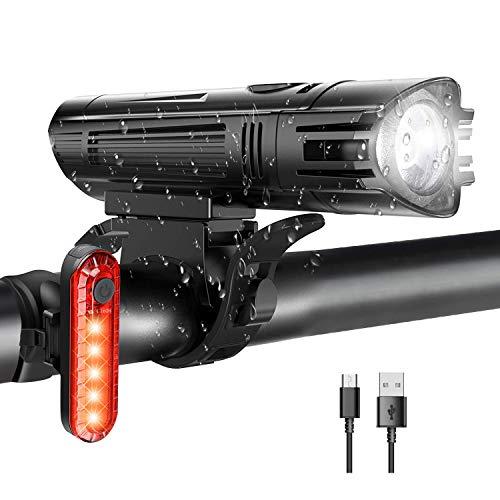 WOTEK Luces para Bicicleta LED Impermeable, Luces...