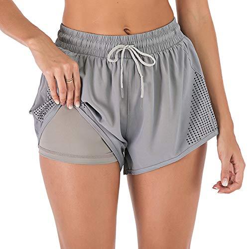 iClosam Short Deportivo Mujer 2 en 1, Pantalones...