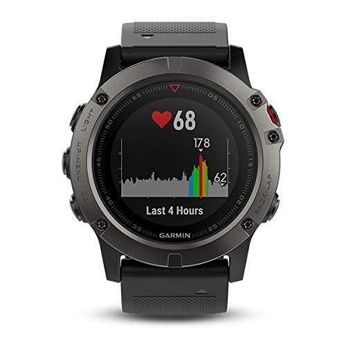 Garmin Fenix 5X- Reloj GPS con pulsómetro, zafiro...