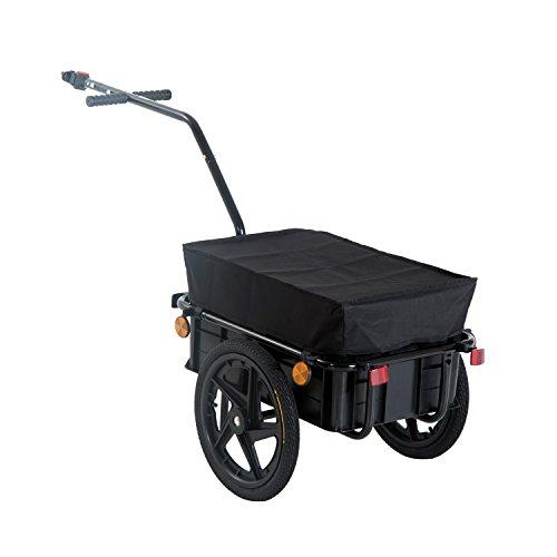 HOMCOM Remolque de Bicicleta para Carga 40kg...