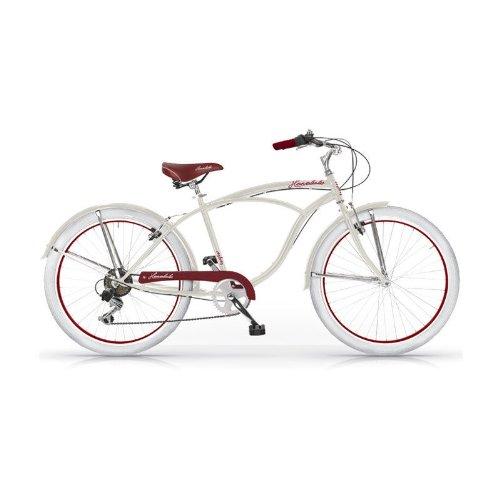 MBM HONOLULU MAN HOMBRE CRUISER CUSTOM 26'' BICYCLE BIKE BICICLETA 6S MARFIL