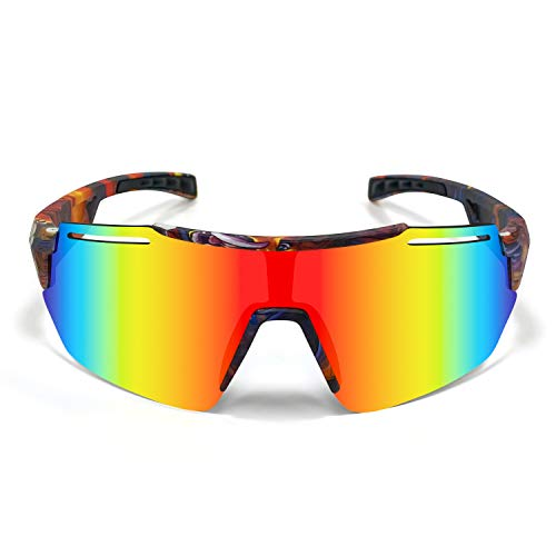 SHANMEI Gafas de Ciclismo Polarizadas Gafas de Sol...