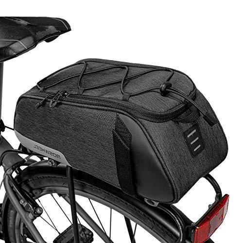 Lixada Bolsa Trasera para Bicicleta Multifuncional...