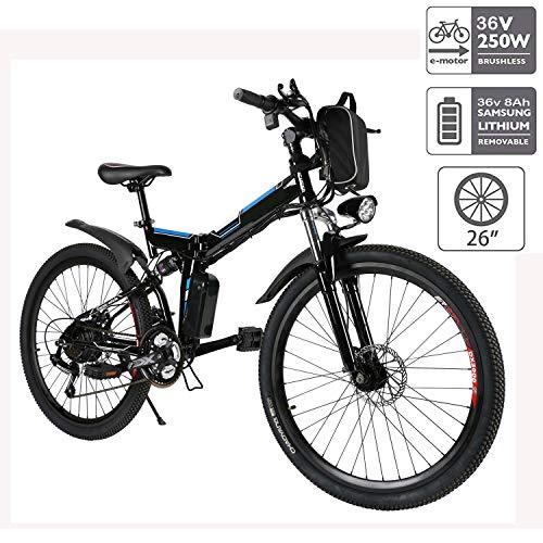 cooshional Bicicleta Eléctrica Plegable de...*