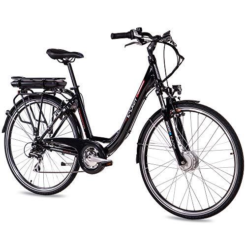 CHRISSON Bicicleta eléctrica de trekking y ciudad...