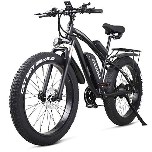 GUNAI Bicicleta eléctrica 1000W 48V Off-Road Fat...