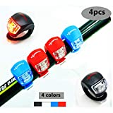 4 Piezas LED Clip-On Silicon Band Luces de...