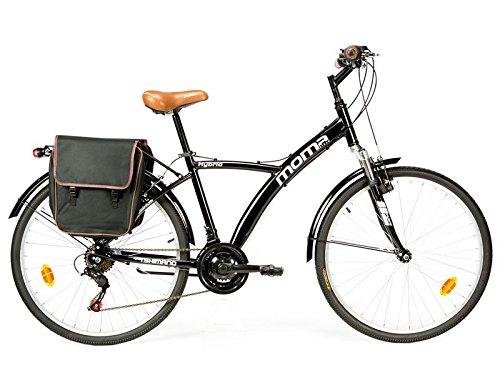 Moma Bikes Bicicleta Trekking / Paseo HYBRID 26', Alu, SHIMANO 18V, Susp. Delant.