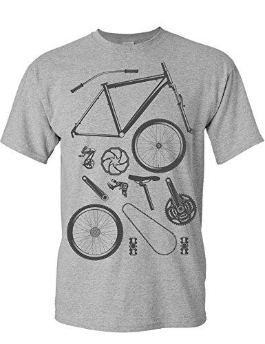 Camiseta de Bicileta: Piezas de Bici - Regalo para...