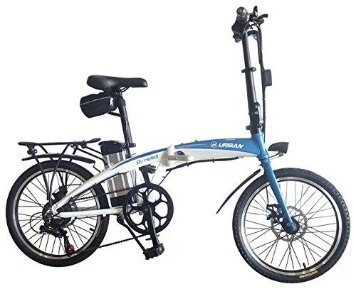 Helliot Bikes by helliot 02 Bicicleta Eléctrica Plegable, Adultos Unisex, Azul/Blanco, Estándar