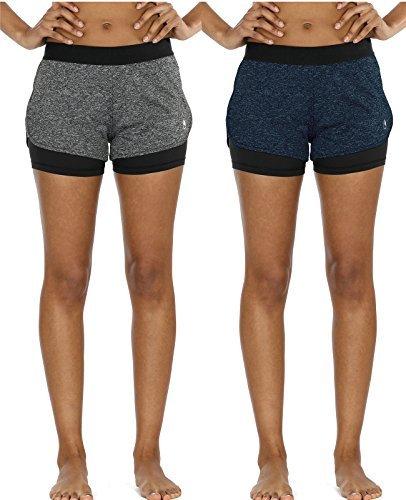 icyzone 2 en 1 Pantalón Corto para Mujer para...