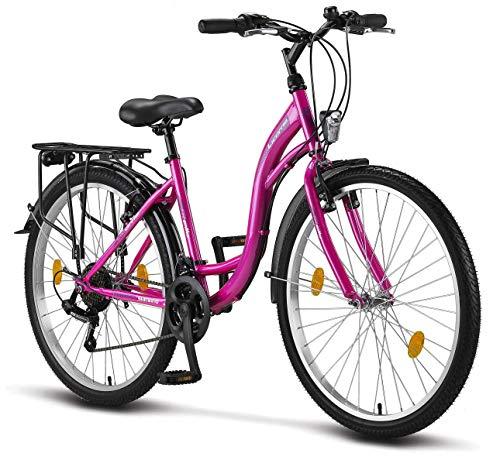 Stella Bicicleta para Mujer, 26 pulgadas, luz de...