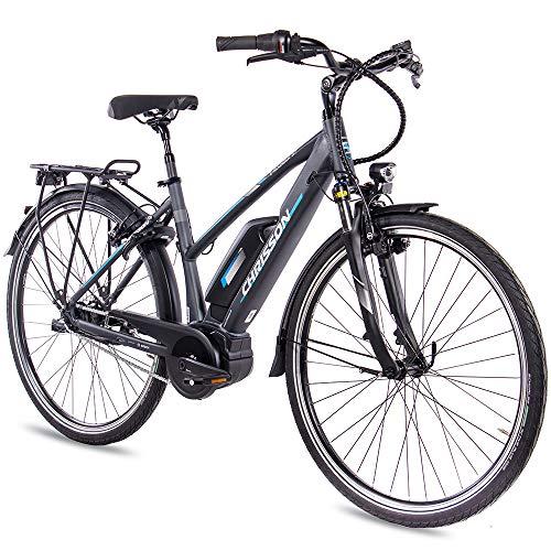 CHRISSON Bicicleta eléctrica para Mujer, 28...