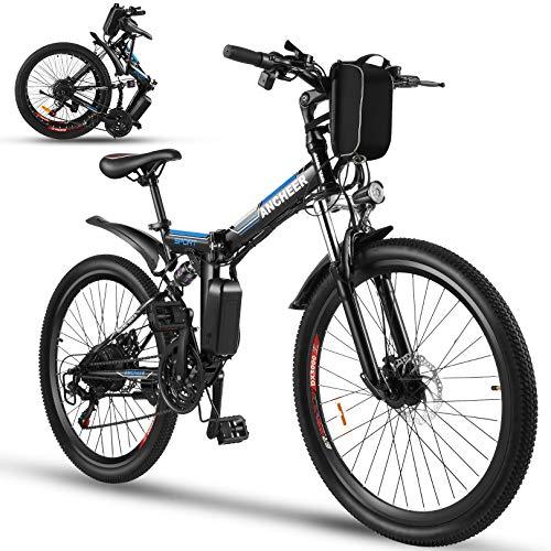 ANCHEER Bicicleta Electrica Plegable, Bicicletas...