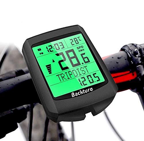 BACKTURE Cuentakilómetros para Bicicleta, 5...