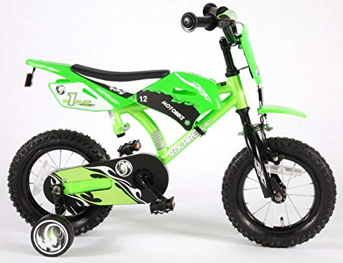 Volare Motobike Bicicleta para niños, Verde,...