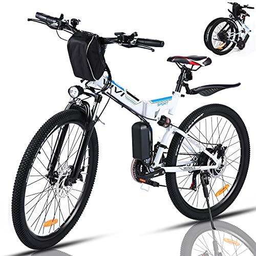 VIVI Bicicleta Electrica Plegable 350W Bicicleta...