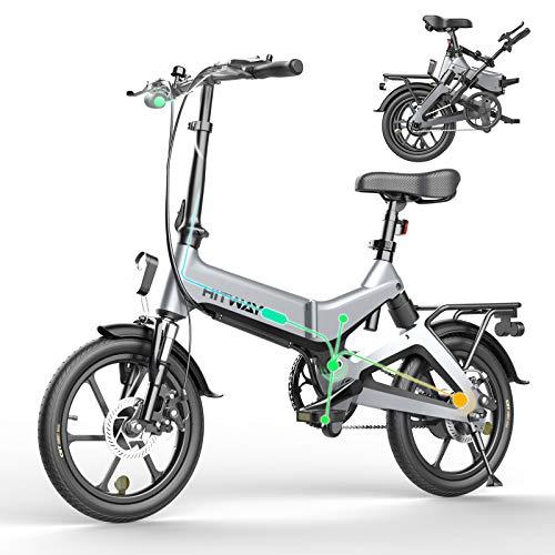 HITWAY Bicicleta eléctrica GEARSTONE, Ligera, 250...