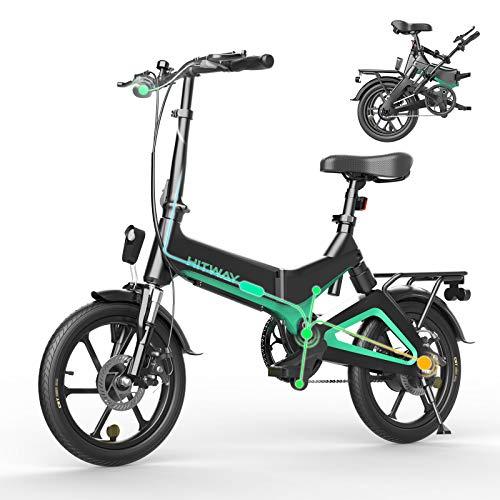 HITWAY Bicicleta eléctrica, Ligera, 250 W,...