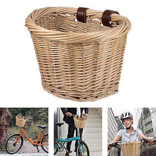 Laiashley Cesta de Mimbre para Bicicleta en Forma...