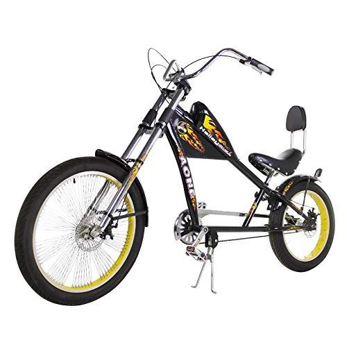 Riscko Bicicleta Estilo Chopper New Town Bep-37 Negro Sin Cambios