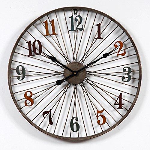 Riva776Yale 60 CM Estilo Retro Reloj de Pared...