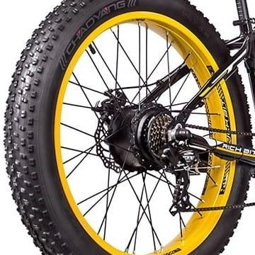 motor electrico bicicleta rueda trasera