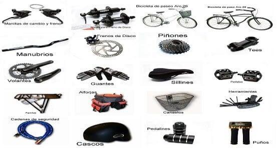 repuestos y accesorios de bicicletas